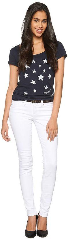 Skinny-Jeans für Frauen (unifarben, mit Knopf und Reißverschluss zu schließen) mit Stretch für eine optimale Passform. Material: 98 % Baumwolle 2 % Elasthan...