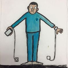 French illustrator Jean Jullien draws witty illustrations that point out our absurd addictions to technology, social media and our smartphones. The artist is famous for mocking our obsession, which cuts Satire, Our Life, Real Life, Technology Addiction, Satirical Illustrations, Simple Line Drawings, Show Us, Digital Technology, Business Technology