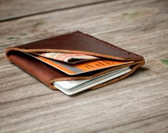 FREE SHIPPING Handmade Leather CardHolder and by NadaliniLeather