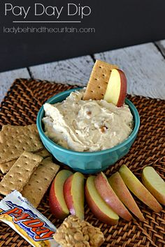 I actually added ground up paydays to this Pay Day Dip.  Ridiculously tasty.  In fact who needs something to dip?  All I needed was a really BIG spoon!