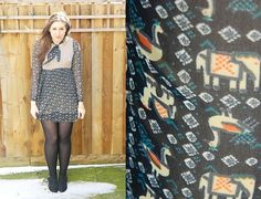 Outfit post featuring Mina elephant print dress <3