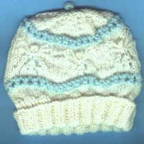 Lorraine Major's Angel Lace baby cap - seamless version