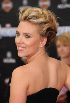 Updo  Scarlett Johansson Hair