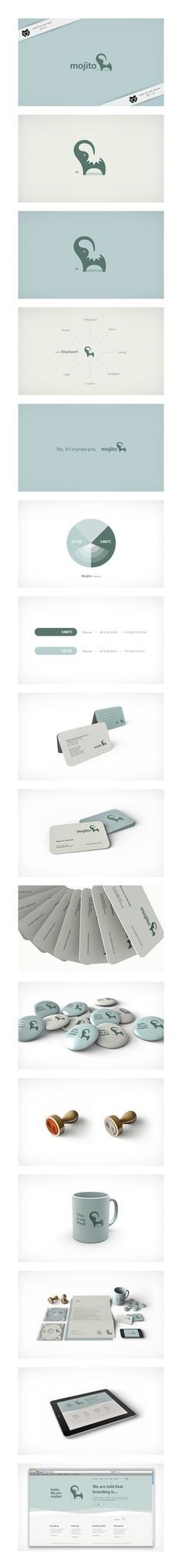 mojito agency corporate identity