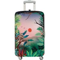 Travel Suitcase Protector L Japanese Kimono Women Washable /& Dust Proof /& Anti-Scratch Luggage Cover