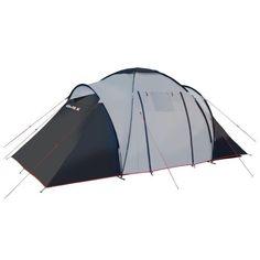 High Peak Como 6 hellgrau/dunkelgrau/rot Familienzelt 6-Personen Family Tent in Sport, Camping & Outdoor, Zelte & Strandmuscheln | eBay!