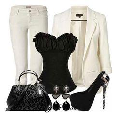 Nix the white blazer/pants & go with leopard.