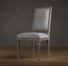 Vintage French Square Upholstered Side Chair | Upholstered Chairs | Restoration Hardware