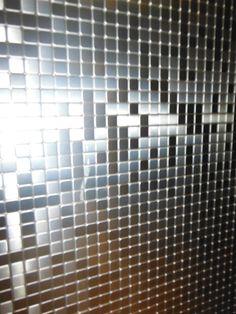 Mosaico flexible color acero