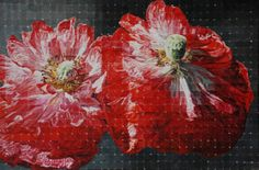 "Robert Lemay TWO POPPIES / Canada House Gallery - oil, canvas 24"" x 36"""