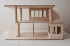 Simple toy garage by Drewnorele via Lena & Kuba (beautiful Polish kids' blog!)