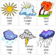 La météo / The weather (free song and flashcards)