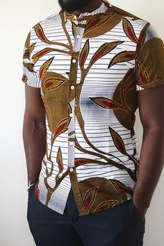 Check out these mens african fashion 3660 By Diyanu - African Plus Size Clothing at D'IYANU African Shirts Designs, African Shirts For Men, African Attire For Men, African Clothing For Men, African Wear, African Dress, Mens Clothing Styles, Size Clothing, Nigerian Men Fashion