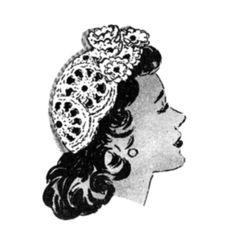 free vintage hat pattern.