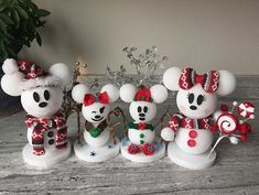 Disney is my love language on Our snow mouse family Disney Christmas Crafts, Disney Christmas Decorations, Disney Diy Crafts, Mickey Christmas, Disney Ornaments, Diy Christmas Ornaments, Simple Christmas, Holiday Crafts, Spring Crafts