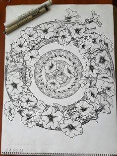 Моя графическая работа. Летние цветы, сурфиния
