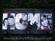 print pictures then cut out letters and put on board add vinyl words