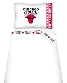 Chicago Bulls Micro Fiber Sheet Set Twin