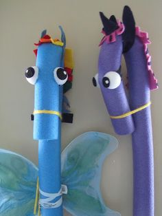 My Little Pony --Pool Noodle horses! These would be amazing summer fun toys for the backyard!!
