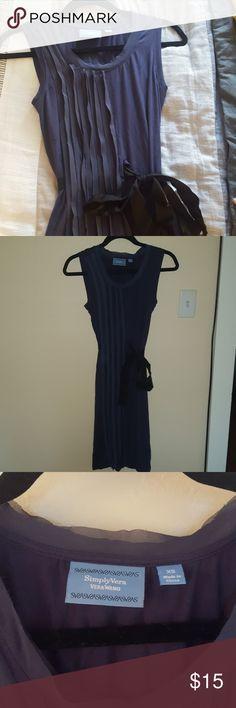 Simply Vera Wang dress Purple/Blue above the knee dress. Black ribbon to cinch the waist Simply Vera Vera Wang Dresses Midi