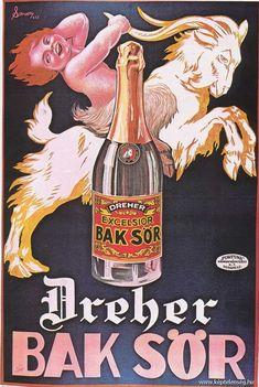 Régi magyarországi plakátok - képtelenség.hu Vintage Advertisements, Vintage Ads, Beer Poster, Beverage Packaging, Old Ads, Advertising Poster, Vintage Travel Posters, Illustrations And Posters, Movie Posters