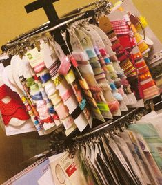 great storage idea for ribbons
