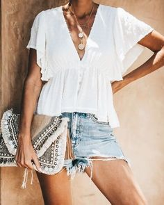 35 Extraordinary Spring And Summer Fashion Ideas That Make You Look Cool , Casual Summer Outfits, Outfits For Teens, Spring Outfits, Cute Outfits, Denim Outfits, Fashionable Outfits, Party Outfits, Sweater Outfits, Look Fashion