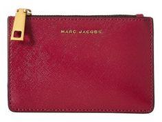 Marc Jacobs Saffiano Tricolor Top Zip Multi Case (Berry) Handbags
