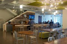 FCB Chicago and LinkedIn have the coolest office spaces in Chicago, as picked by the editors of Crain's Chicago Business. Cool Office Space, Office Spaces, Inspiration Boards, Design Inspiration, Workspace Design, C2c, Dining, Cool Stuff, Larger