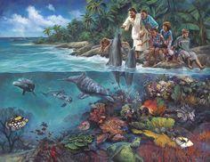 """O Senhor Deus fez tudo. """" ... porque Tu criaste todas as coisas, e por Tua vontade são e foram criadas."""" Apocalipse 4:11. Óleo sobre tela. Christian Nathan Greene."""
