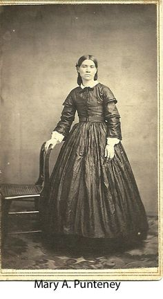 Mary Ann Predmore  (1836-68), married George Punteney (1820-1920) in Clayton co., Iowa in 1854