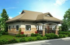 Pinoy House Design 2015002 is a one storey house design with a floor area of 148 m². An elegant entry enhances an inviting front porch on this traditional design. Bungalow Haus Design, Modern Bungalow House, Modern House Design, Single Storey House Plans, One Storey House, Bungalows, Philippines House Design, Bungalow Floor Plans, Philippine Houses
