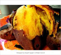 roasted yellow sweet potato... one of my favorite korean comfort foods