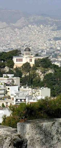 Good View of Athens. The National Observatory of Athens Attica Greece, Athens Greece, Parthenon, Acropolis, The Beautiful Country, Beautiful Places, Places Around The World, Around The Worlds, My Athens