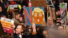Británicos protestan contra visita de Donald Trump a Reino Unido - http://www.notimundo.com.mx/mundo/britanicos-protestan-donald-trump/