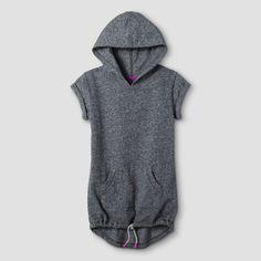 Girls' Short Sleeve Hoodie Cat & Jack Gray XS, Girl's
