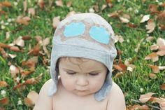 Toddler's Aviator Hat, Boys Aviator Hat, Cotton Earflap Hat, Gray on Etsy, $41.71 AUD