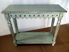 Artisan Furniture & Cabinetry   Custom side table. Distressed finish