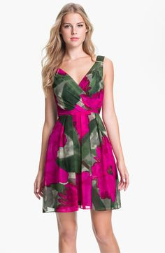 Trina Turk 'Winston' Printed Silk Fit & Flare Dress available at #Nordstrom
