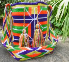 Authentic Wayuu Mochila Bag from Colombia by ChUsiqa on Etsy