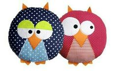 Cojines infantiles - Kids Pillows - Ideas of Kids Pillows Cute Pillows, Baby Pillows, Kids Pillows, Animal Projects, Craft Projects, Sewing Projects, Little Presents, Felt Owls, Owl Crafts