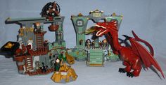 """Lego """"The Hobbit - Battle of the Five Armies"""" 79018 - Lonely Mountain with Smaug, Bilbo Baggins, Kili, Fili, Dwalin, & Balin the Dwarves"""