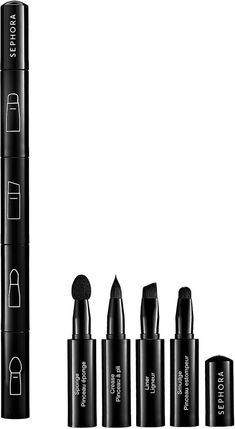 Pack lighter with these travel makeup brush set from Sephora. They're magnetic. so they stick together in case you lose them.