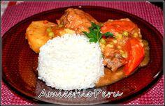 ESTOFADO DE POLLO. Forma tradicional. Receta en español - Segundo. Comida Peruana.