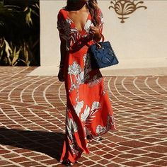 Casual Sexy Deep V Neck Floral Print Maxi Dresses – ebuytide vacation dresses vacation dresses beach vacation dresses mexico vacation dresses casual summer vacation dresses vacation dresses boho vacation dresses caribbean vacation dresses maxi Floral Print Maxi Dress, Boho Dress, Dress Casual, Dress Formal, Maxi Dress With Sleeves, Short Sleeve Dresses, Short Sleeves, Maxi Robes, Maxi Dresses