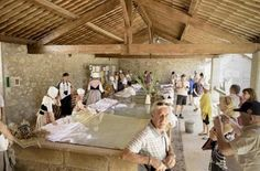 Lavoir de Gréoux-les-Bains Var (83) lors des fêtes Provençales