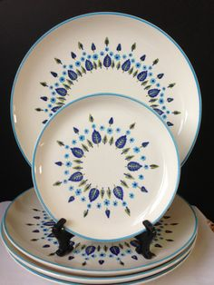 Marcrest   Swiss Alpine  Dinner and Bread Plates  Set by nddevens, $44.00