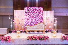 Floral Stage Decor For Engagement - Shaadiwish Floral Stage Decor For Engagement - Shaadiwish engagement decorations in pondicherry Nasik Weddings Simple Stage Decorations, Homemade Wedding Decorations, Wedding Hall Decorations, Desi Wedding Decor, Luxury Wedding Decor, Wedding Mandap, Wedding Cake, Marriage Hall Decoration, Engagement Stage Decoration
