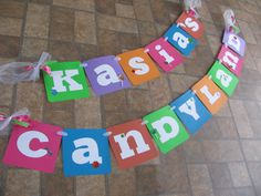 Candyland Birthday Banner made by Banana Lala Party Designs & More