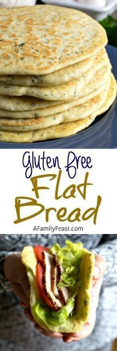 Diet Snacks Gluten Free Flat Bread - A delicious alternative to pita bread! - Gluten Free Flat Bread - A delicious alternative to pita bread! Gluten Free Cooking, Gluten Free Desserts, Dairy Free Recipes, Gluten Free Recipes, Healthy Recipes, Spinach Recipes, Bread Recipes, Celiac Recipes, Paleo Bread